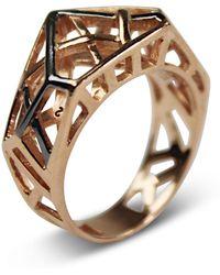 Bellus Domina - Hexa Rose Gold Ring - Lyst