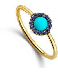 Elham & Issa Jewellery - Awe Sapphire Ring - Lyst