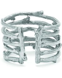 Chupi - Love Is All You Need Twig Ring In Silver - Lyst