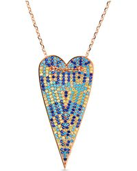 Cosanuova - Rose Multi-color Long Heart Necklace - Lyst