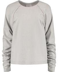 blonde gone rogue - Herringbone Oversized Blouse In Grey - Lyst