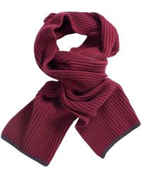 40 Colori - Wine Ribbed Wool & Cashmere Scarf - Lyst