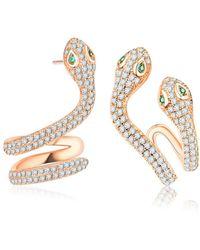 Opes Robur - Serpent Earrings - Lyst