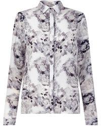 NEUE - Hera Monochrome Floral Shirt - Lyst
