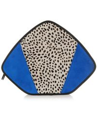 Feather M - Friday // White Cheetah And Blue Suede - Lyst