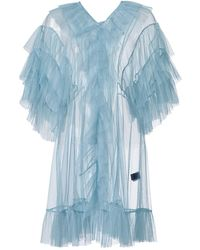 Supersweet x Moumi - Tulle Babydoll In Cloudy Blue - Lyst