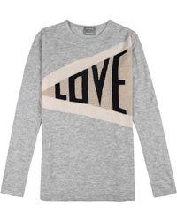 Orwell + Austen Cashmere - Love Sweater In Grey - Lyst