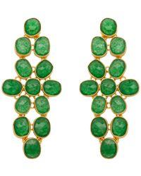 Carousel Jewels - Aventurine Statement Earrings - Lyst