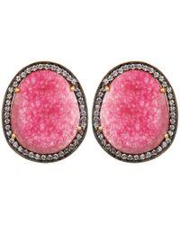 Carousel Jewels - Pink Aventurine & Crystal Earrings - Lyst