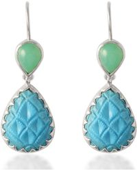 Emma Chapman Jewels - Aztec Chrysoprase Turquoise Earrings - Lyst