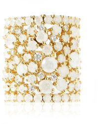 Cielle - Spring Snow Statement Cocktail Ring White - Lyst