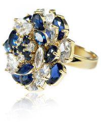 Cielle - Fleur De Cielle Spinning Flower Cocktail Ring Crystal Sapphire - Lyst