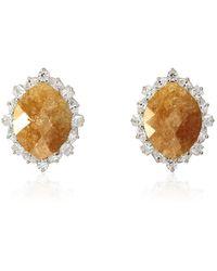 Cielle - Royal Stone Earrings Yellow - Lyst