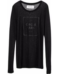Circle Park - Women's Fine Long Sleeve Black T - Lyst