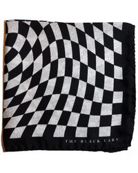 The Black Ears - The Finish Point Silk Pocket Square - Lyst