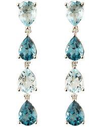 Emily Mortimer Jewellery - Wanderlust Silver Sky Blue Topaz Earrings - Lyst