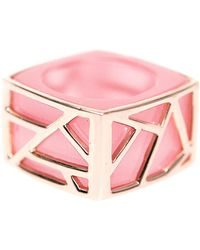 Ona Chan Jewelry - Square Cocktail Ring Pink Cat's Eye - Lyst