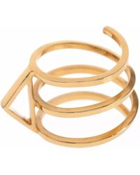 Sally Lane Jewellery - In My Defence Gold Ring - Lyst