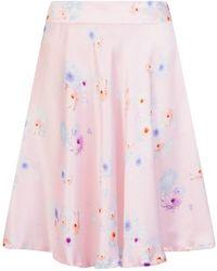 Sophie Cameron Davies - Silk Midi Skirt Pink Beach Flower - Lyst