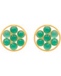 Carousel Jewels - Green Onyx Flower Studs - Lyst