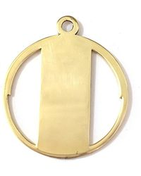 Alice Eden - Gold Deco Initial T Pendant Necklace - Lyst