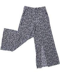SAKU New York - Flowy Slit Pants Black - Lyst