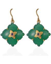 Emma Chapman Jewels - Throwing Star Green Onyx Iolite Earrings - Lyst