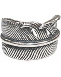 Serge Denimes - Silver Feather Ring - Lyst