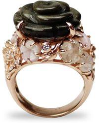 Bellus Domina - Multistone Rose Ring - Lyst
