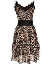 LEFON New York - Lefon Leopard Mini Dress - Lyst