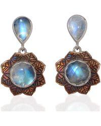 Emma Chapman Jewels   Isa Rainbow Moonstone Earrings   Lyst
