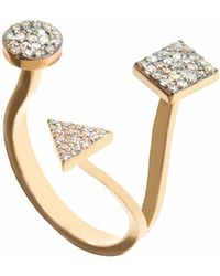 Sadekar Jewellery - Triple Ring With Diamond - Lyst