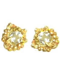 Lily Flo Jewellery - Kaia White Topaz & Solid Gold Stud Earrings - Lyst