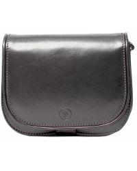Maxwell Scott Bags - Luxury Italian Leather Women's Saddlebag Purse Medium Medolla M Night Black - Lyst