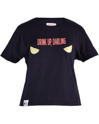 blonde gone rogue - Drink Up Sustainable T-shirt In Black - Lyst