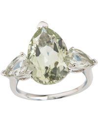 Emily Mortimer Jewellery - Aqua Prasiolite Pear Ring - Lyst