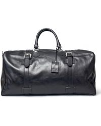 Maxwell Scott Bags | Luxury Italian Leather Extra Large Luggage Bag Flero Night Black | Lyst