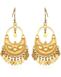 Satya Jewelry - Petal Chandelier Gold Earrings - Lyst