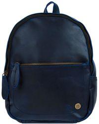 MAHI - Mini Backpack In Navy Full Grain Leather - Lyst