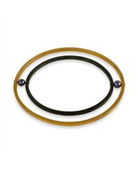 Cara Tonkin | Orbit Rotate Bangle Gold | Lyst