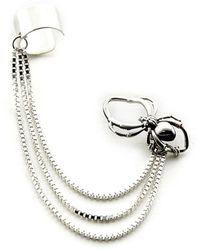 Rachel Entwistle - Spider Ear Cuff Silver - Lyst