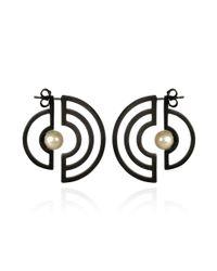 Cara Tonkin - Orbit Solaris Earrings Oxidised Silver - Lyst