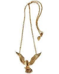 HJÄLTE JEWELLERY - Owl Necklace Gold - Lyst