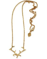 HJÄLTE JEWELLERY - Gold Antler Necklace - Lyst