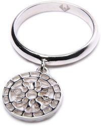 Puck Wanderlust - Silver Mini Moon Mandala Charm Ring - Lyst