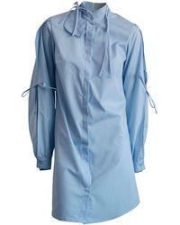 CONSTANTINE/RENAKOSSY - Bleu Shirt With Petal Sleeve - Lyst