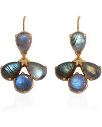 Emma Chapman Jewels - Coachella Labradorite Drop Earrings - Lyst