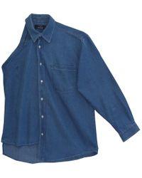W.Y.L.D.E. Paris - Asymetric Demin Shirt - Lyst