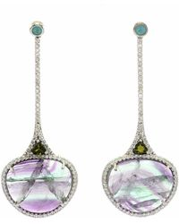 Ri Noor - Mixed Gemstone & Diamond Dangling Earrings - Lyst