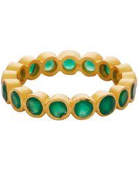 Carousel Jewels - Green Onyx Gemstone Band - Lyst
